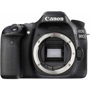 24.2mp Canon Eos 80d With Canon 10-18 And 18-135mm Lenses And Filmcity Cinema Cage