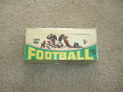 1964 Topps Gum Co. Football Five Cent Trading Cards Display Box Bazooka