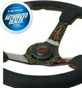 New Nrg Steering Wheel Ryan Litteral Alcantara 3deep Dish 350mm Rst-036mb-rl