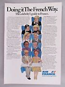 Air France Airline Print Ad - 1976 Miles Davis Andy Warhol
