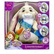 Disney Sofia The First Dance With Me Clover Talking Singing Soft Plush Bunny New