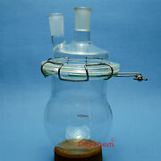 1000ml24/40glass Reaction Reactortwins Necks1lreaction Flaskwith Clamp
