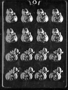 H100 Bite Size Pumpkin 2 Styles Chocolate Candy Soap Mold W/instructions