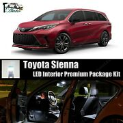 19x Bright White Led Lights Interior Package Kit For 2011 - 2022 Toyota Sienna
