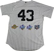 New York Yankees Dynasty 11 Signature Authentic 43 Pinstripe Jersey W/ 4 Wo...