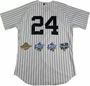 New York Yankees Dynasty 11 Signature Authentic 24 Pinstripe Jersey W/ 4 Wor...