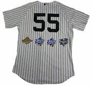 New York Yankees Dynasty 11 Signature Authentic 55 Pinstripe Jersey W/ 4 Wor...