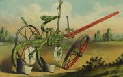 1870and039s-80and039s Oliverand039s Patent Chilled Plow The Casaday Plow Farm Scene P53