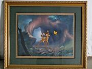 Bambi Moment Of Discovery Disney Le 94/250 - Hand Painted Cel Rare
