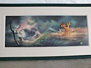 Original 1992 Disney Bambi Limited Edition Cel Of Bambi And Thumper With Coa