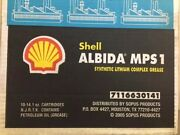 Shell Albida Mps1 7116630141 Synthetic Lithium Complex Grease Qty. 34 Cartridges
