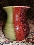 WALT GLASS Art Pottery Vase McQueeny Texas great glaze