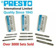 Presto 3 Piece Metric Tap Sets Hss Hand Tap Includes Taper Second And Plug Taps