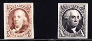 Us 3p4-4p4 1875 Reproduction Issue Plate Proofs On Card Xf Scv 500