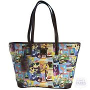 Disney Parks Dooney And Bourke Epcot Food And Wine Shopper Tote Bag Purse 2016