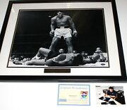 Certified Muhammad Ali Sonny Liston And03965 Steiner Framed Photo 20x16 Signed W/coa