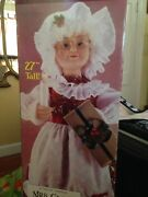 Vintage Mrs. Claus With Light Candle Christmas Animated From 90´s 27 Tall
