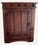 Handcrafted Mission Apothecary Wood Wall Mount Cabinet