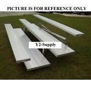 New 3 Row Universal Low Rise Aluminum Bleacher 7-1/2and039 Wide Double Footboard
