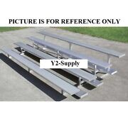 New 4 Row Universal Low Rise Aluminum Bleacher 7-1/2and039 Wide Single Footboard