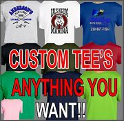 Custom Your Design Logo Company Name T-shirt Pictures Teams 2 Locations