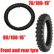 Set Of Tyre Tire And Tube Front 70/100-19 And Rear 90/100-16 Honda Crf50 Dirt Bikes