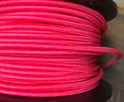 Hot Pink Cloth Covered 3-wire Round Cord, Vintage Pulley Pendant Lights Antiques