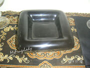 BLACK CERAMIC HAEGER DISH 2176 Home display Table Decor Candle Holder Plate Tray