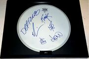 Deftones Hand Signed Autographed Custom Framed Drumhead By 5 Rare With C.o.a.