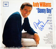 Andy Williams Hand Signed Autographed Danny Boy Album With Proof + C.o.a. Psa