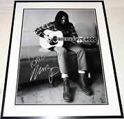 Neil Young Vintage Hand Signed Autographed Custom Framed16x20 Photo Proof+coa