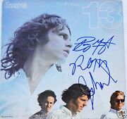 The Doors Band Hand Signed Doors 13 Album Lp By 3 With Manzarek W/proof+c.o.a.