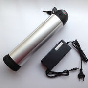 24v 10ah Li-ion Rechargeable Ebike Battery W/ Water Bottle Case And Charger