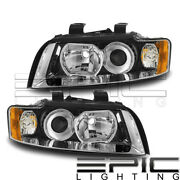 Headlights For 2002-2005 Audi A4 Quattro S4 Gen2 - Left Right Sides Pair