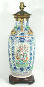Huge Antique Chinese Porcelain Vase Mounted As Table Lamp 22 58 Cm