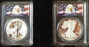 2012 S Silver Eagle Proof 75th Anniversary 2 Coin Set Pcgs Pr 70 First Strike