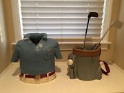 Two Original Ceramic Golf Themed Art Pieces By Joan E. Scheckel Signed Jes-95