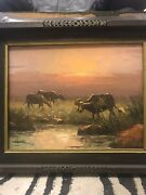 Signed And Dated - Water Buffalo And Homeward Bound By Jd Castro-andnbsp