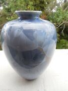 BEAUTIFUL BLUE SIGNED STUDIO VASE  6""