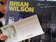 Brian Wilson No Pier Pressure Sealed Signed W/ Signed Litho Poster 39/400