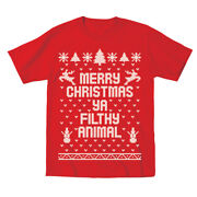 Baby Merry Christmas Ya Filthy Animal Xmas Cute Outfit Red Infant T-shirt