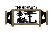 Personalized Cabin Signs -rustic Cedar Log Lodge Decor - Pine Trees - Cabins