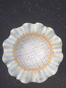 Mackenzie-Childs Victoria and Richards Large Ceramic 13 3/4 Wide Serving Bowl