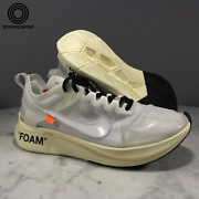 Nike Zoom Fly And039 Off-white Andtrade And039 - White/white-muslin - Aj4588-100