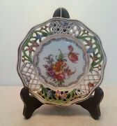 Bavaria Porcelain Small Round Trinket Flower Dish Bowl Flowers Made in Germany