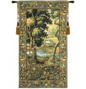 Verdure Meudon French Tapestry Wall Hanging H 78 X W 44