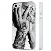 Chris Brown Tattoos Singer White Phone Case Cover Fits Iphone