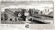 South West View Of Cold-norton Priory 1729 Nathaniel And Samuel Buck Etching