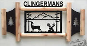 Personalized Whitetail Deer Sign - Clingermans Outdoor Signs - Rustic Log Decor