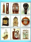 Cigarette/trade/cards.player Tobacco.clocks Old And New.large1928set Of 20